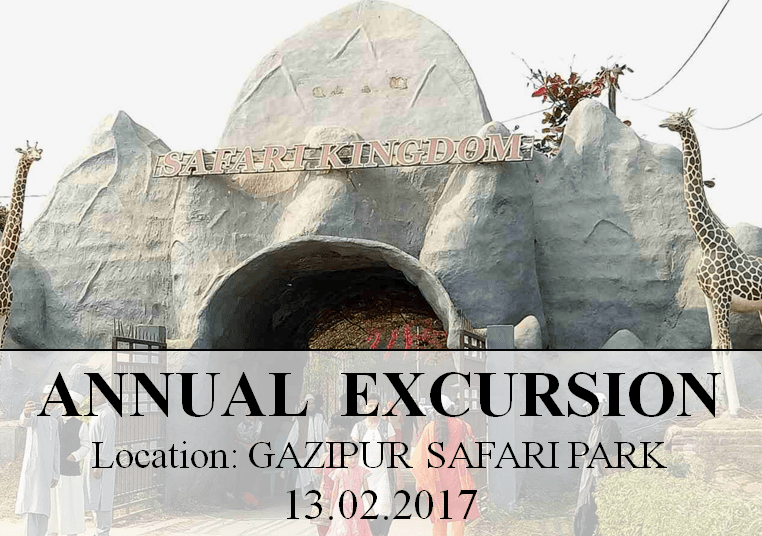 Annual Excursion, Gazipur Safari park – 13.02.2017